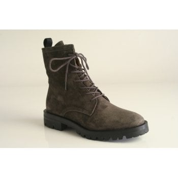 Alpe Grey suede lace-up ankle boot (NT15)