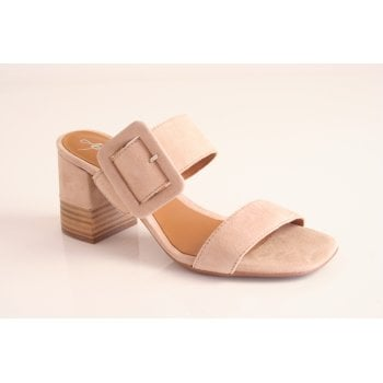 Alpe Nude suede slip on dress sandal (NT11)
