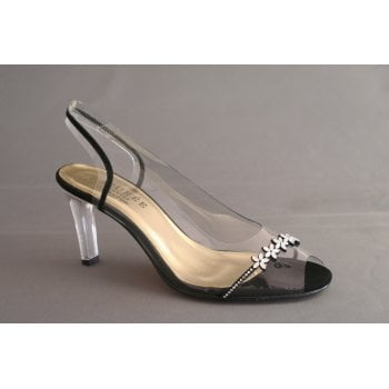 Azurée sling-back, peep toe with crystal detail   (NT31)