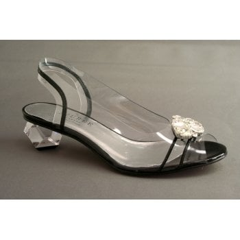 Azurée sling-back with crystal detail and a peep toe   (NT24)