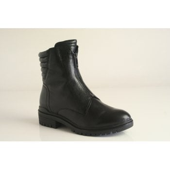 Caprice black leather ankle boot (NT B43)