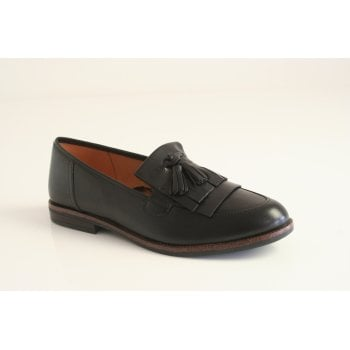 Caprice black nappa leather loafer
