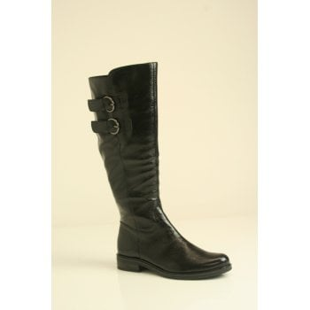 Caprice Black Patent leather boot   (NT18)