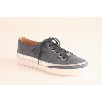 Caprice blue leather lace up shoe (NT80)
