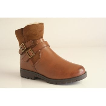 Caprice brown leather ankle boot (NT B45)
