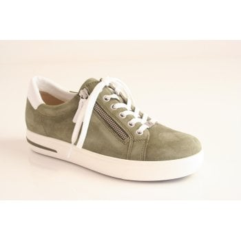 Caprice cactus green suede leather lace up shoe   (NT10)