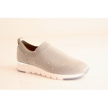 Caprice Grey Elasticated slip on shoe (NT55)
