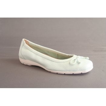 Caprice mint green ballerina style with bow trim  (NT98)