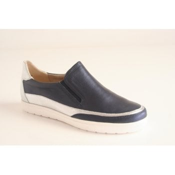 Caprice navy blue leather slip on shoe   (NT6)