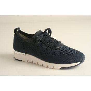 Caprice Navy Elasticated lace up shoe (NT57)