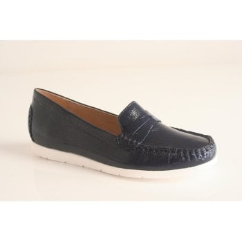 Caprice navy naplak leather loafer (NT41)