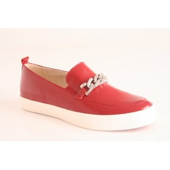 Caprice red naplak slip on shoe (NT45)