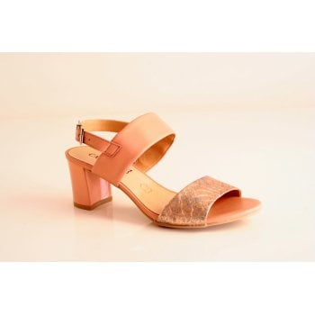 Caprice Rose leather heeled sandal (NT53)