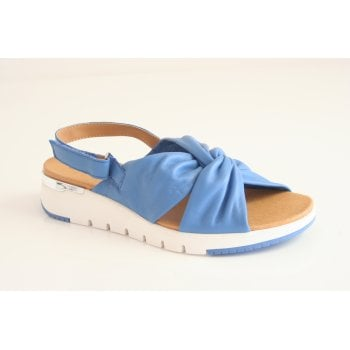Caprice Sky Blue leather sling back sandal (NT84)