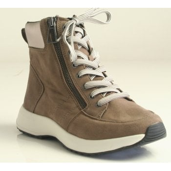 Caprice Stone Combi Lace/Zip Up Trainer Boot (NT B51)