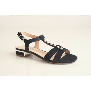 Caprice T-Bar Blue suede leather sling back sandal   (NT23)