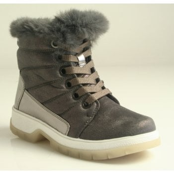 Caprice Taupe Combi Warm Lined Water Resistant Ankle Boots NT SB54)
