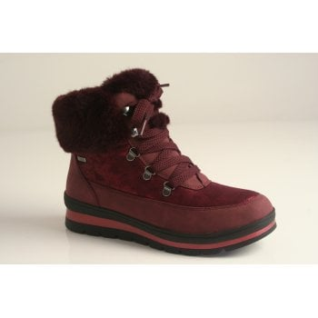 Caprice Water resistant Burgandy ankle boot