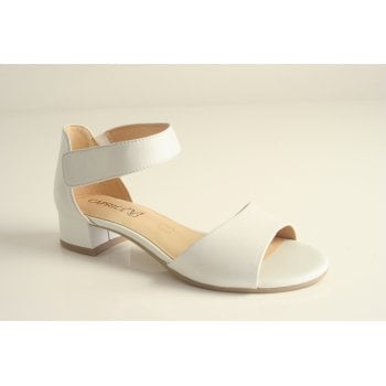 Caprice White leather sandal  (NT60)