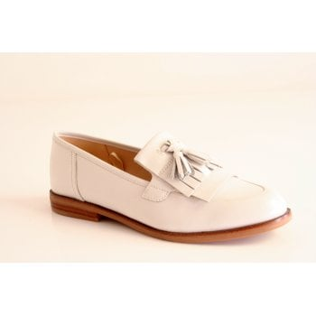 Caprice white nappa leather loafer (NT47)