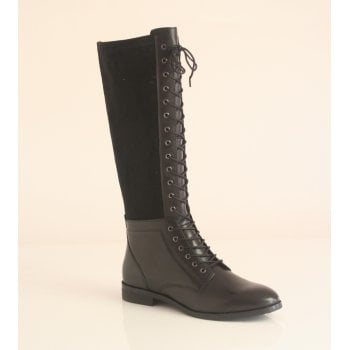 Caprice Capricer Black leather lace up Boot (NTLB2)