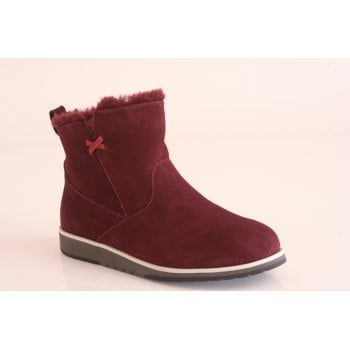 EMU Australia style 'Beach Mini' burgundy suede leather ankle boot (NT19)