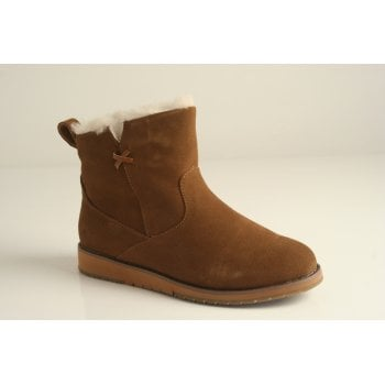 EMU Australia style 'Beach Mini' chestnut suede leather ankle boot (NT12)