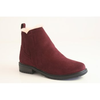 EMU Australia style 'Pioneer' burgundy suede leather ankle boot