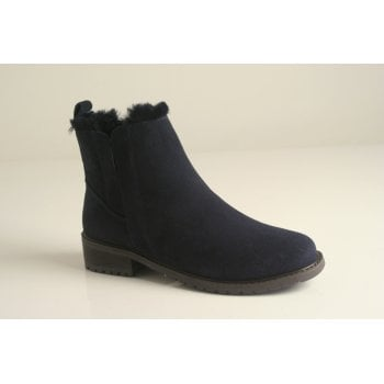 EMU Australia style 'Pioneer' midnight Blue suede leather ankle boot (NT13)