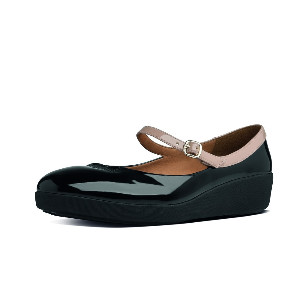 Womens Black Fitflop F-Pop Mary Jane Shoes at Soletrader
