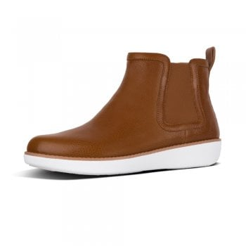 FitFlop™ design 'Chai' Chelsea boot in tan leather