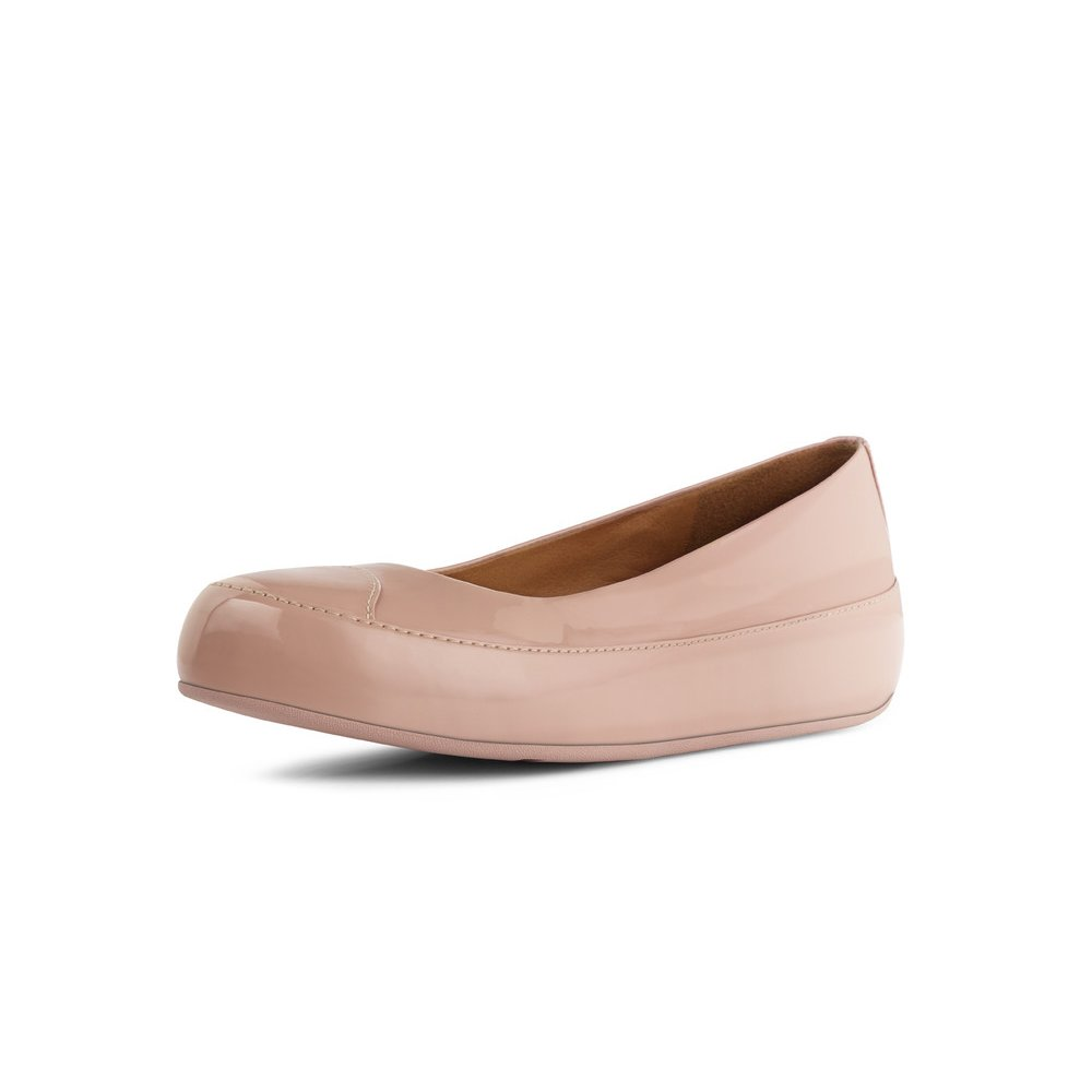 FitFlop™ DUE™ nude patent ballerina