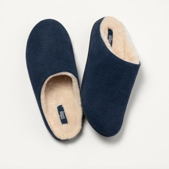 FitFlop™ FitFlop Style 'Chrissie Shearing' Navy Slip-On Slippers (NT 102)