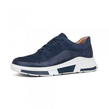 FitFlop™ Fitflop™ style 'Freya' navy suede sneaker with 'Microwobbleboard' technology  (NT5)