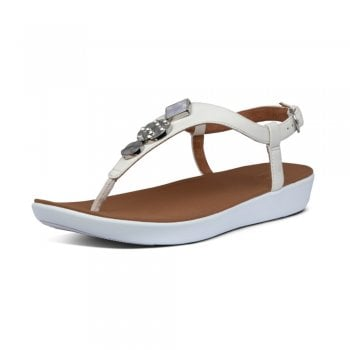 FitFlop™ Fitflop style 'Lainey Circle Toe-Thong' Stone leather sandal (NT11)