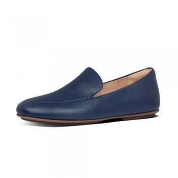 FitFlop™ FitFlop' style 'Lena' navy leather loafer with 'Duocomff' technology  (NT9)
