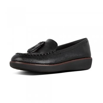 FitFlop™ style 'Petrina Patent ' black leather loafer with 'Supercomff' technology  (NT91)