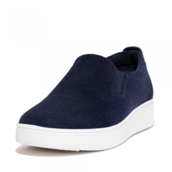 FitFlop™ style 'Rally' Midnight Navy Suede Slip-On Sneaker  (NT47)
