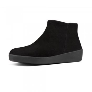 FitFlop™ style 'Sumi' black suede ankle boot (NT28)