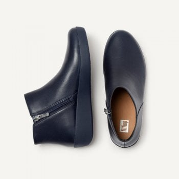 FitFlop™ style 'Sumi' Midnight Navy Leather ankle boot (NT 48)