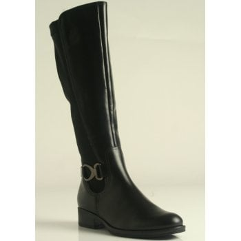 Gabor Abia Black Leather Long Boot (NT LB5)