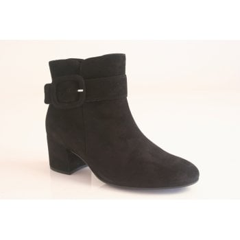 Gabor black suede ankle boot.  (NTB2)