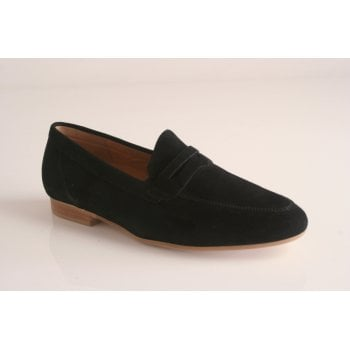 Gabor Black Suede leather slip on shoe  (NTD)