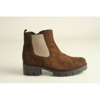 Gabor Brown Suede 'Bodo Niton' Style Platform Zip-Up Boots (NT B76)