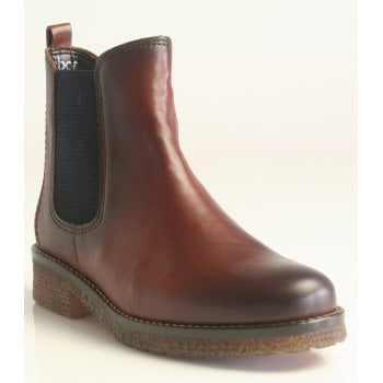 Gabor 'Chelsea' Cognac Leather Ankle Boot (NT B73)