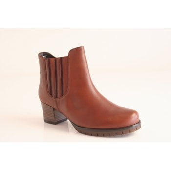 Gabor Cognac leather ankle boot.  (NTB10)