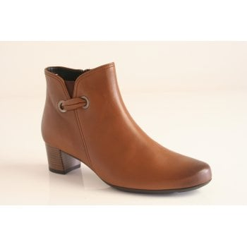 Gabor cognac leather ankle boot.  (NTB61)
