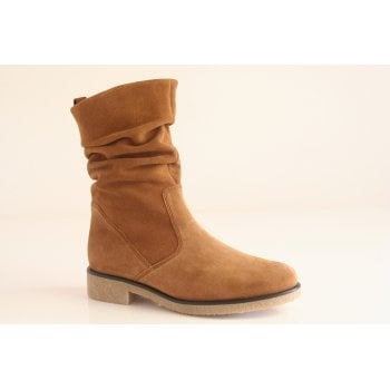 Gabor cognac tan suede leather ¾ ankle boot.  (NTB57)