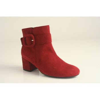 Gabor dark red ankle boot.
