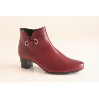 Gabor dark red leather ankle boot.  (NTB54)